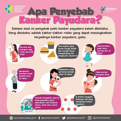 penyebab kanker payudara